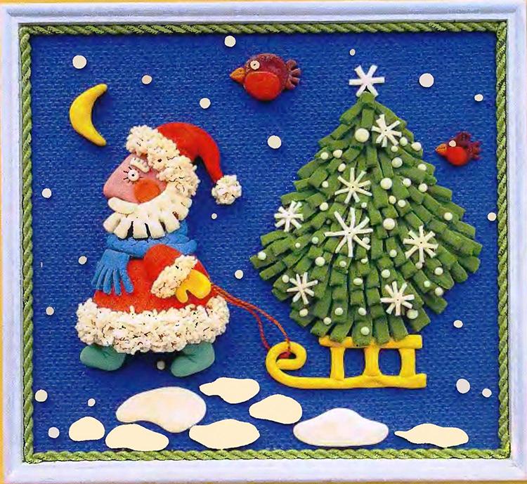 Добра тепла, открытка с пластилином своими руками с новым годом