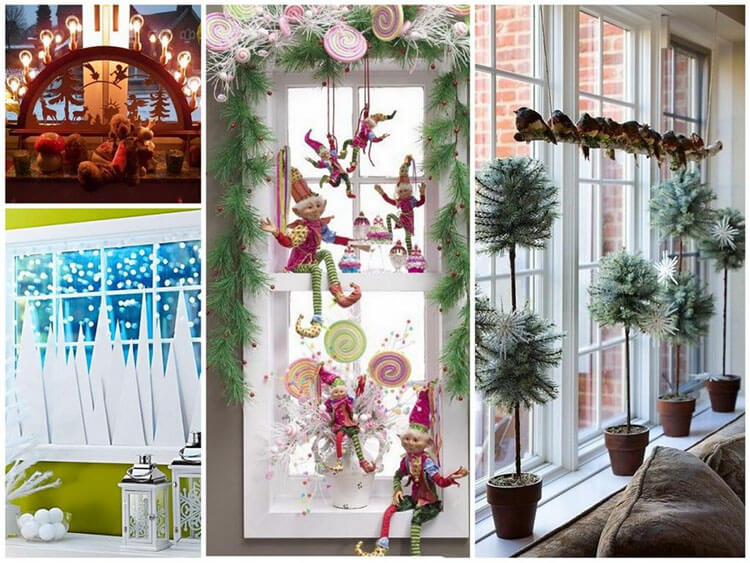 Украшаем окна к Новому году: шаблоны, советы 19 2