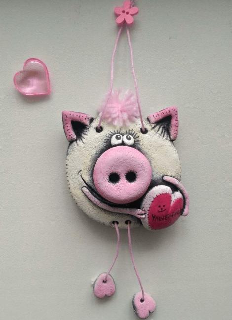 Поделка Свинья из соленого теста: оригинальный подарок на Новый год 2019 19