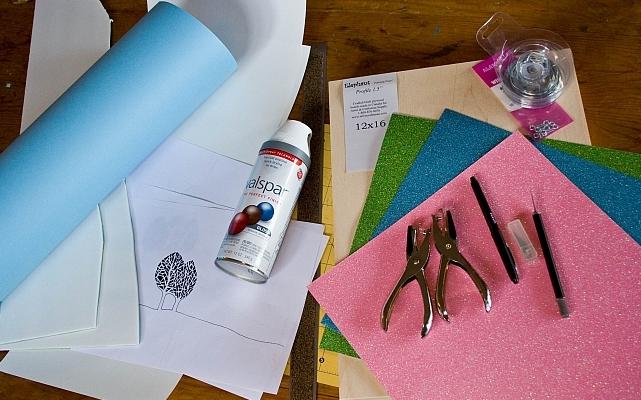 Новогоднее панно из бумаги: варианты для школы и садика 2 5