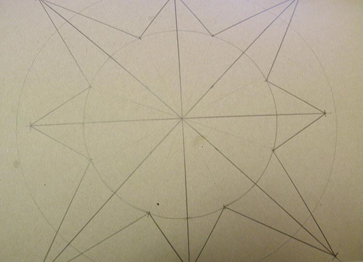 Звезда на елку из бумаги: мастер класс 25