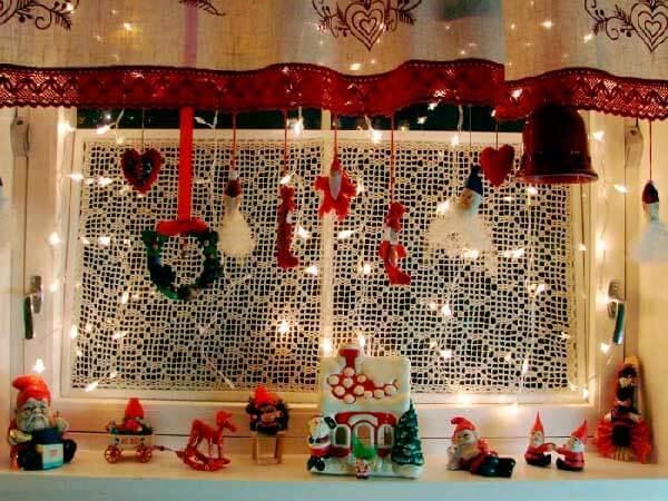 Украшаем окна к Новому году: шаблоны, советы 26