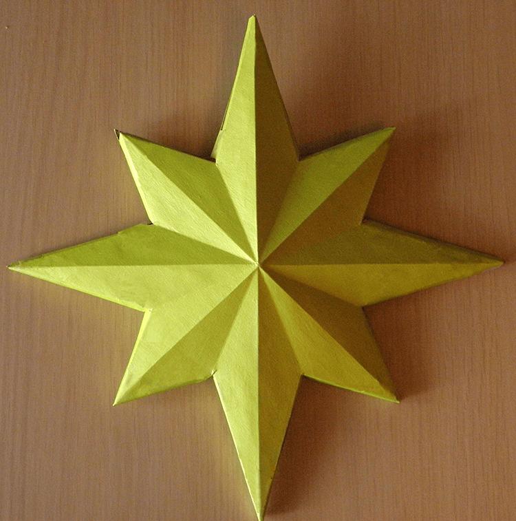 Звезда на елку из бумаги: мастер класс 26