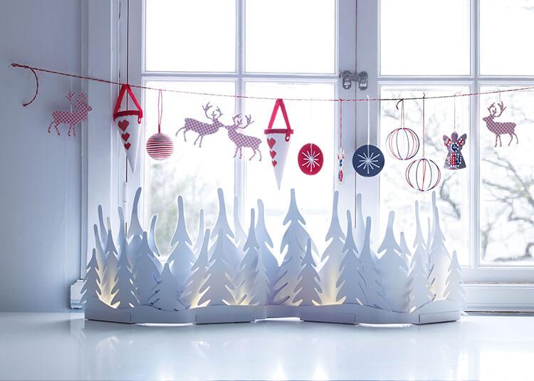 Украшаем окна к Новому году: шаблоны, советы 27