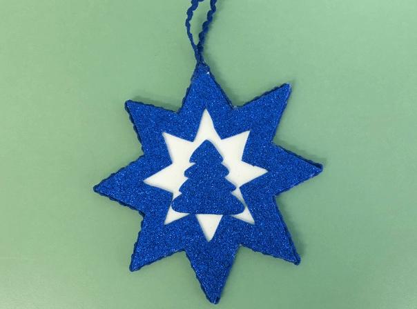 Звезда на елку из бумаги: мастер класс 27