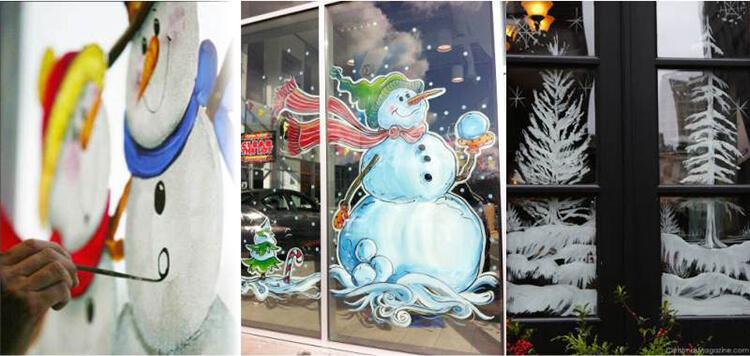 Украшаем окна к Новому году: шаблоны, советы 28