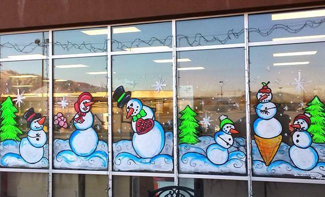 Украшаем окна к Новому году: шаблоны, советы 29