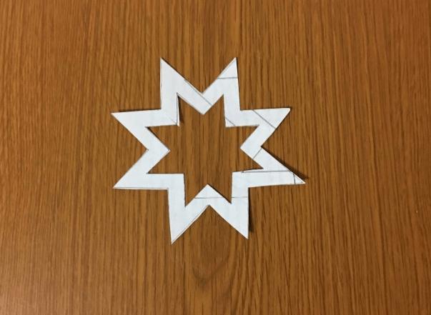 Звезда на елку из бумаги: мастер класс 29