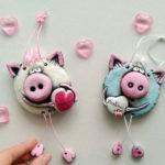 Поделка Свинья из соленого теста: оригинальный подарок на Новый год 2019
