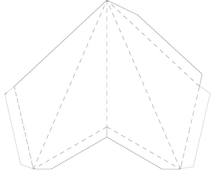 Звезда на елку из бумаги: мастер класс 3 10