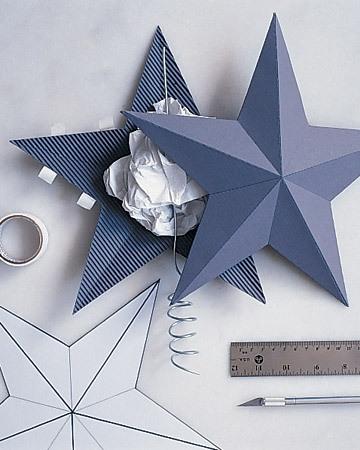 Объемная звезда из бумаги на Новый год 3 9