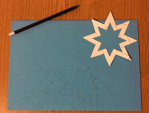 Звезда на елку из бумаги: мастер класс 30