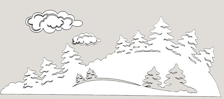 Украшаем окна к Новому году: шаблоны, советы 32