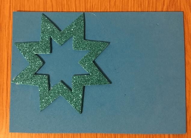 Звезда на елку из бумаги: мастер класс 32