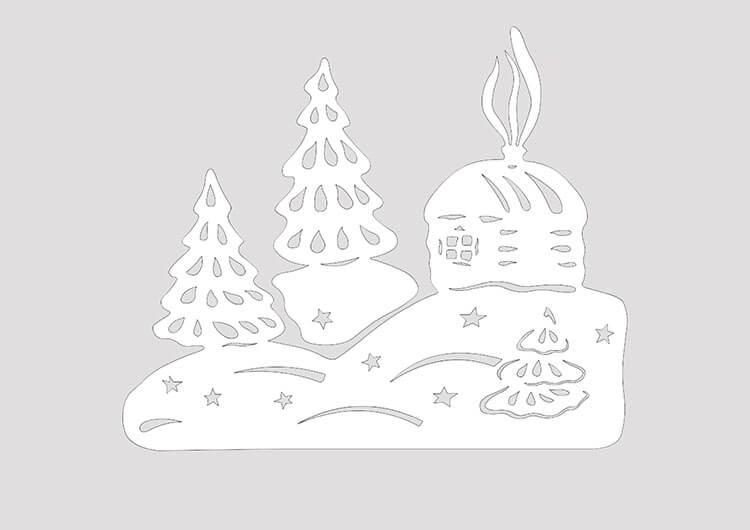 Украшаем окна к Новому году: шаблоны, советы 33
