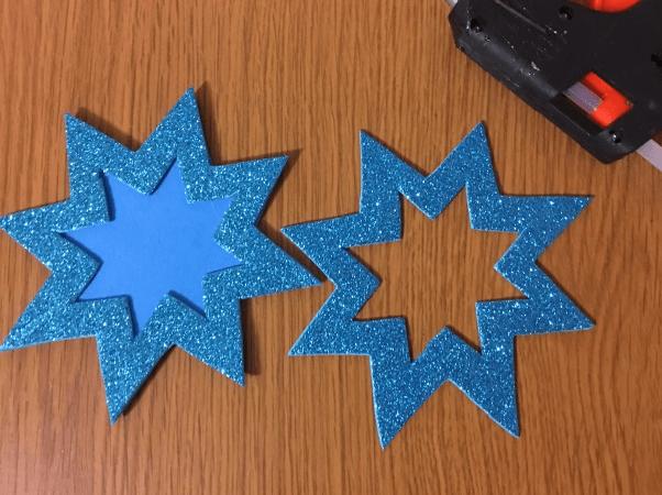 Звезда на елку из бумаги: мастер класс 33