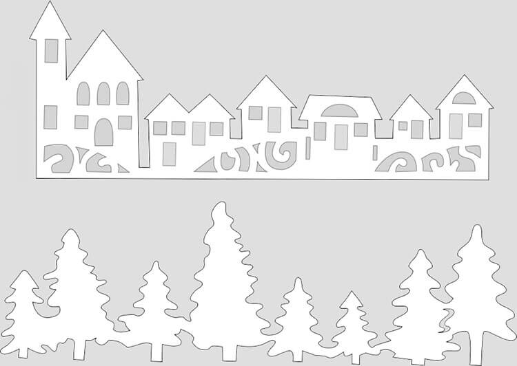 Украшаем окна к Новому году: шаблоны, советы 34