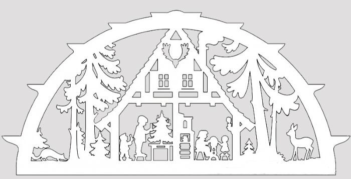 Украшаем окна к Новому году: шаблоны, советы 35