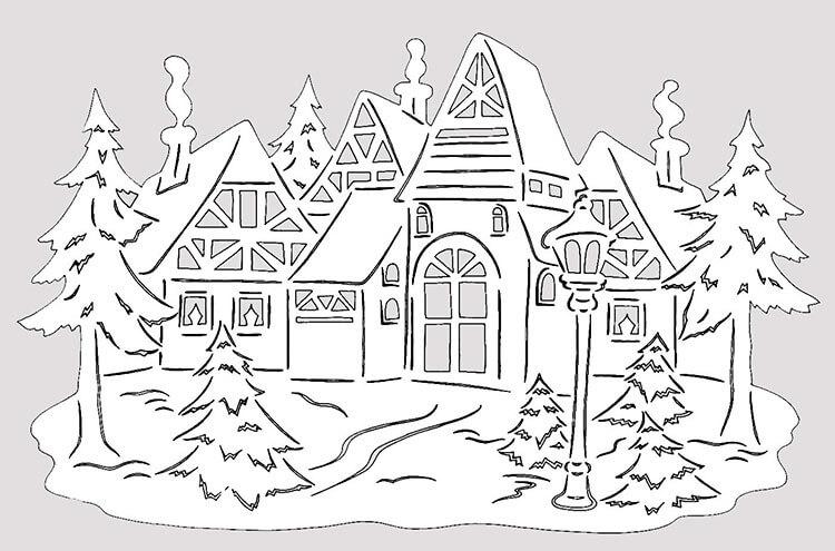 Украшаем окна к Новому году: шаблоны, советы 36