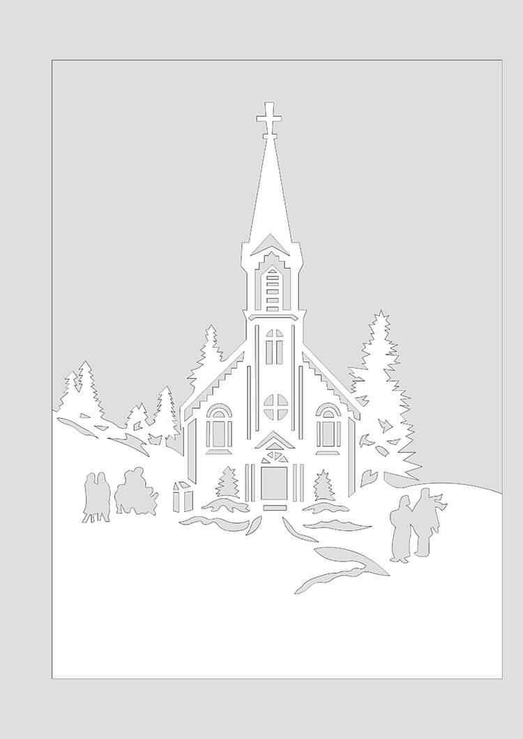 Украшаем окна к Новому году: шаблоны, советы 37