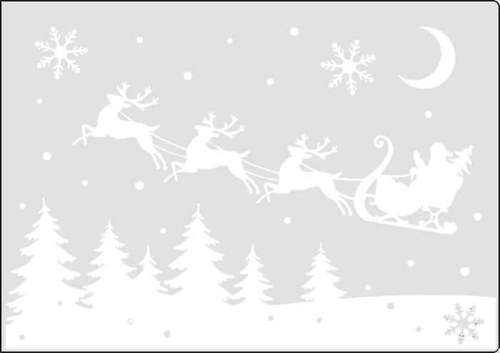 Украшаем окна к Новому году: шаблоны, советы 38