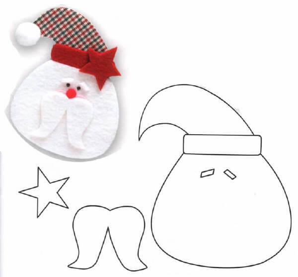 Детская поделка аппликация Дед мороз 4 2