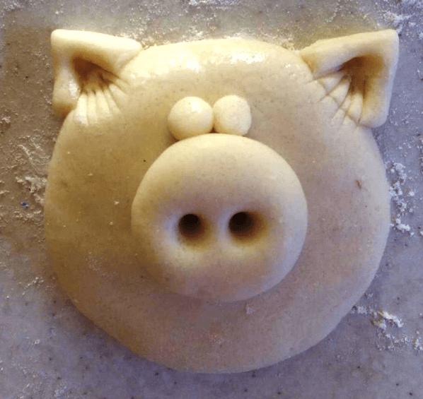 Поделка Свинья из соленого теста: оригинальный подарок на Новый год 2019 5 1