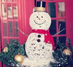 Снеговик из ниток: оригинальное украшение на Новый год 5 4