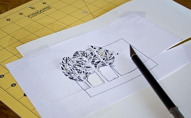 Новогоднее панно из бумаги: варианты для школы и садика 5 5