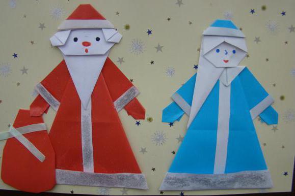 Детская поделка аппликация Дед мороз 6 2