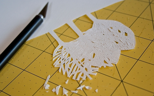 Новогоднее панно из бумаги: варианты для школы и садика 6 5