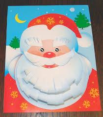 Детская поделка аппликация Дед мороз 7 2