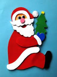 Детская поделка аппликация Дед мороз 8 2