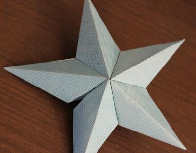Звезда на елку из бумаги: мастер класс 9 5