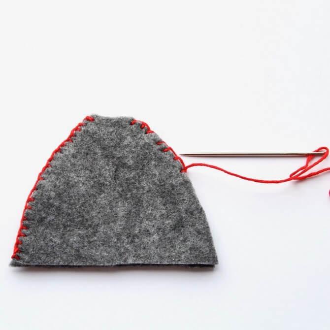 Гномик из фетра: новогодняя поделка Gnome 3