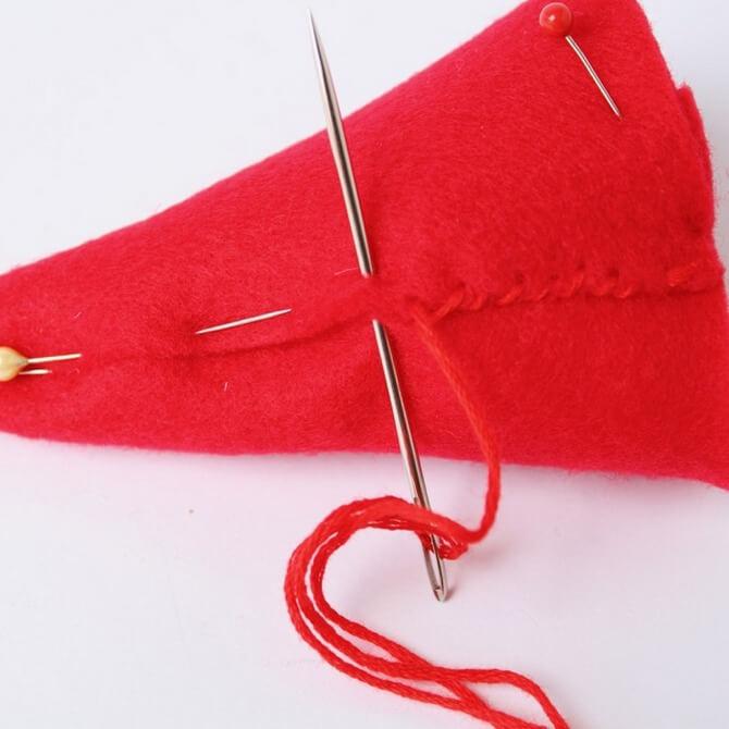 Гномик из фетра: новогодняя поделка Gnome 9
