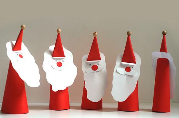 Дед мороз из бумаги: яркая аппликация для ребенка Kak sdelat ded moroza iz bumagi 1