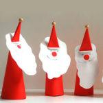 Дед мороз из бумаги: яркая аппликация для ребенка