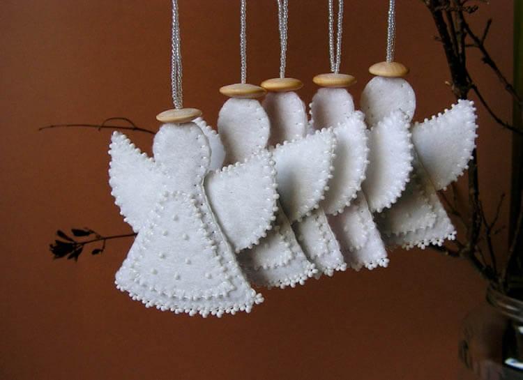Ангелочек из фетра: новогодняя поделка на елку angel 13