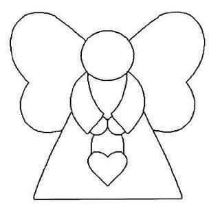 Ангелочек из фетра: новогодняя поделка на елку angel 4