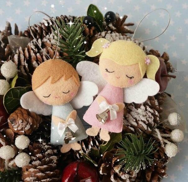 Ангелочек из фетра: новогодняя поделка на елку angel 5