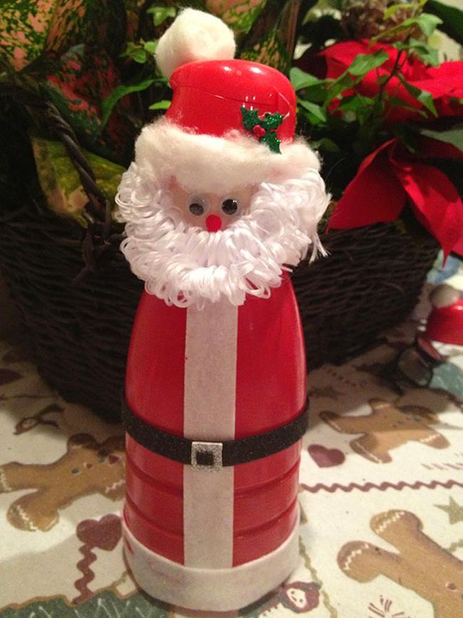 Дед Мороз из бутылки: интересная поделка для детей ded iz butilki 1