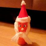 Дед Мороз из бутылки: интересная поделка для детей
