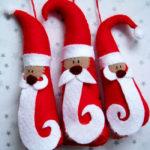 Новогодняя поделка Дед мороз из фетра