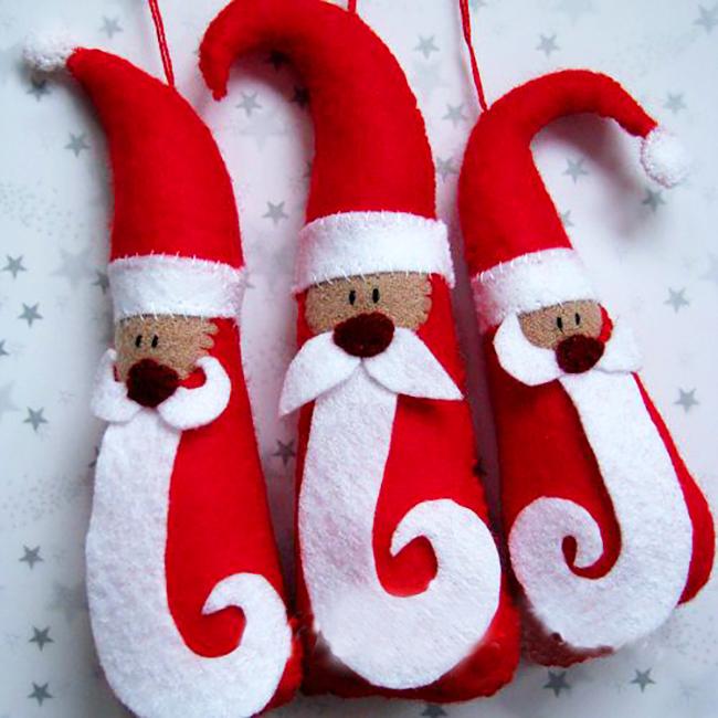 Новогодняя поделка Дед мороз из фетра ded moroz iz fetra 1