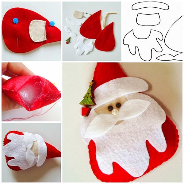 Новогодняя поделка Дед мороз из фетра ded moroz iz fetra 2