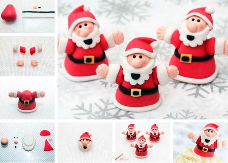 Лепим Деда Мороза на Новый год вместе с ребенком ded moroz iz plastilina 3