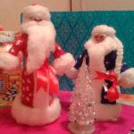 Дед мороз из ваты: делаем новогоднюю поделку