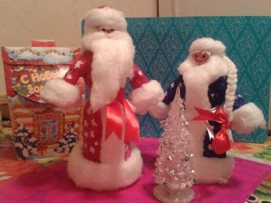 Дед мороз из ваты: делаем новогоднюю поделку ded moroz iz vaty 12