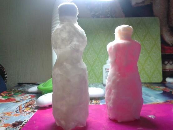 Дед мороз из ваты: делаем новогоднюю поделку ded moroz iz vaty 3